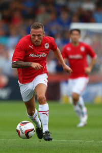 Fiery character - Bellamy in the new look red of the 'Bluebirds'