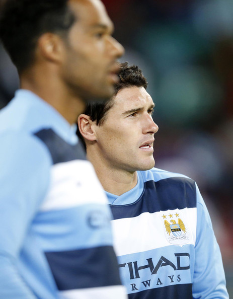 Team GB - Gareth Barry makes his first return to the the Etihad since leaving City. Courtesy@MCFC