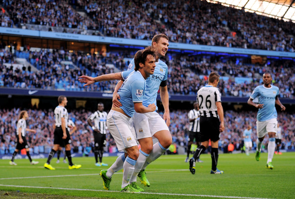Key components - Silva and Dzeko are in a rich vein of form going into the Newcastle game
