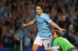 Samir strike - Nasri's 75th minute goal sent City to the top of PL