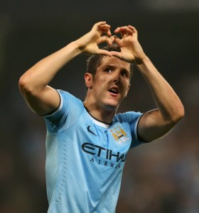 Home debut double - Stevan Jovetic had reasons to celebrateCourtesy @MCFC