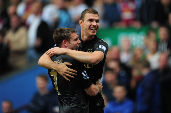 Dzeko delight turned to despair - Edin scored at Villa Park but City lost 3-2. Courtesy @MCFC