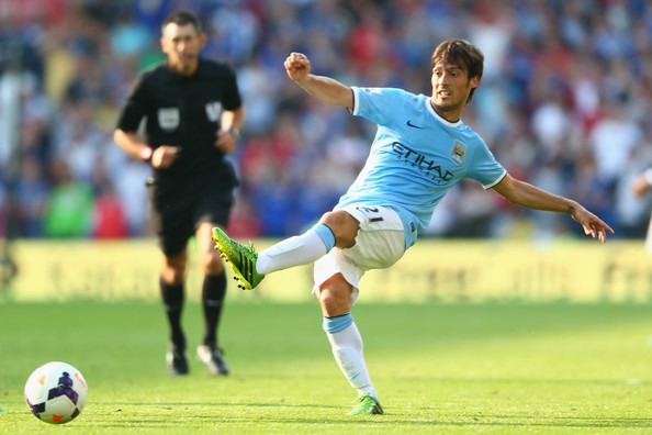 Sitting it out - David Silva should be available for the Spurs game on Wednesday