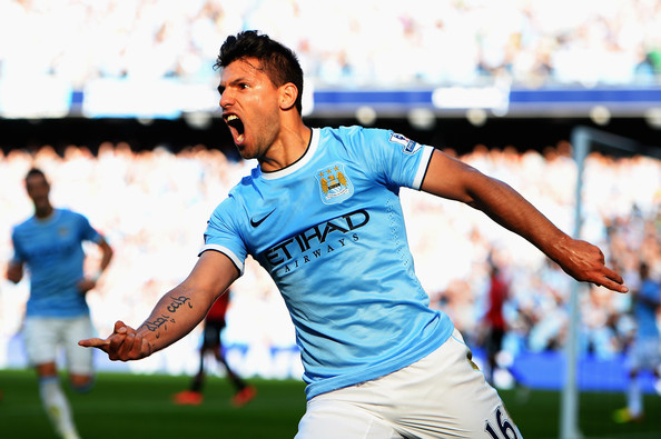 Sadly missing - Sergio just loves scoring against United.