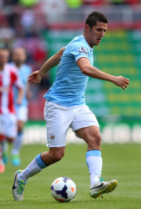 Home debut - Stevan Jovetic could make his first appearance at the Etihad after a promising run out at Stoke