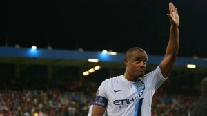 Kaptain Kompany - commanding Vinny helped ease City to victory.pic courtsey of @MCFC