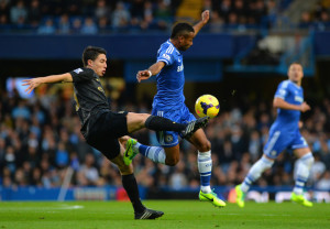 Beaten black & blue - City's Nasri loses out to Ashley Cole