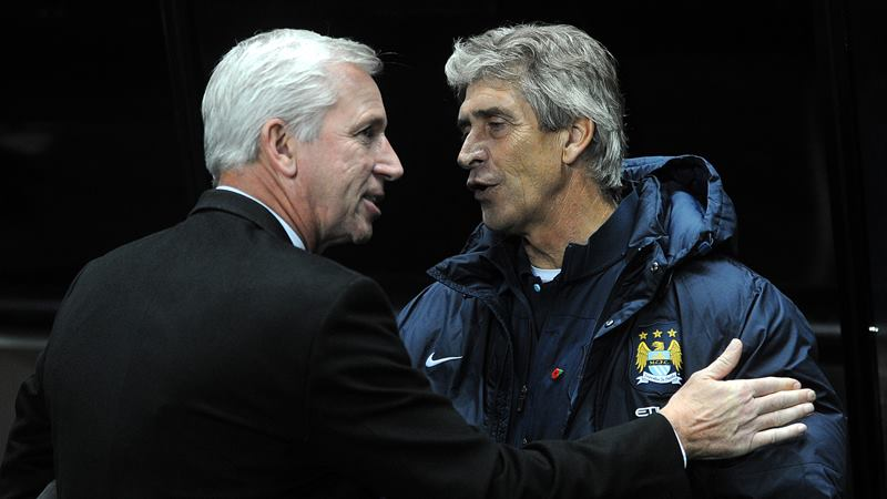 Opposites DON'T attract -Pardew & Pellegrini in less contentious times