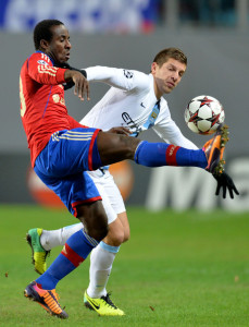 Nasty night - Matija Nastasic & his City team mates came through a tough trip to Russia
