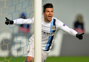 Super Sergio - City's talisman striker grabbed his second brace of goals in 4 days