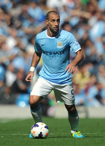 Sole survivor - Pablo Zabaleta is the only City player from the 1-0 Nou Camp win back in 2009