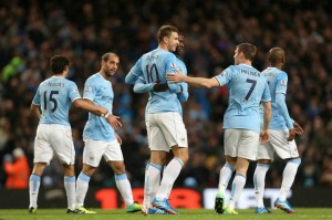 Together - MCFC celebrate another of their Magnificent Seven Courtesy of @MCFC