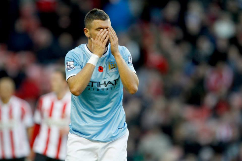 Don't look - Kolarov has been part of a disjointed City defence this season