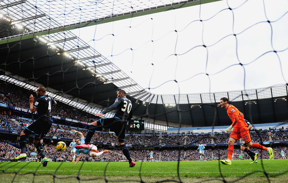 Shot Spurs - The sadly departed Beast bagged a goal when it was Six & The City last November. Courtesy@MCFC