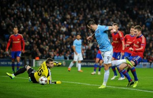 Beast Feast begins - Negredo taps-in the first of his hat-trick - Courtesy @MCFC
