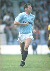 Battering the opposition - Paul Moulden was a deadly City striker who now batters fish in his Bolton chip shop