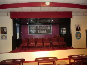 All set - Reddish Blues hosted the Teenage Kicks launch and FAYC 1986 reunion