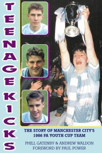 Well covered - City skipper Steve Redmond holds the FA Youth Cup aloft on the front of the superb 'Teenage Kicks' book