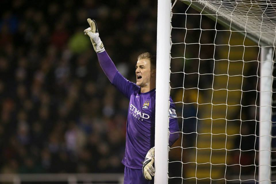 Back on track - Joe Hart played well after being restored to the City side  Courtesy @MCFC