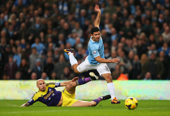 Shocker - Sergio drew a blank but was an essential element in City's 3-0 win