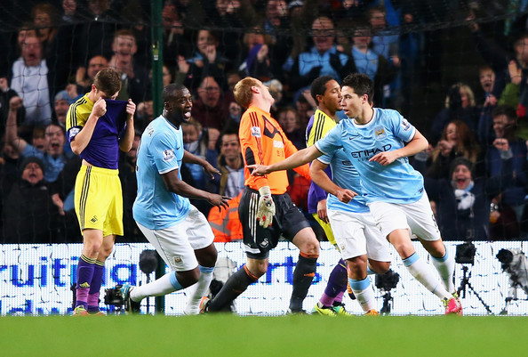 Perfect harmony - Yaya and Nasri linked superby for City's second score