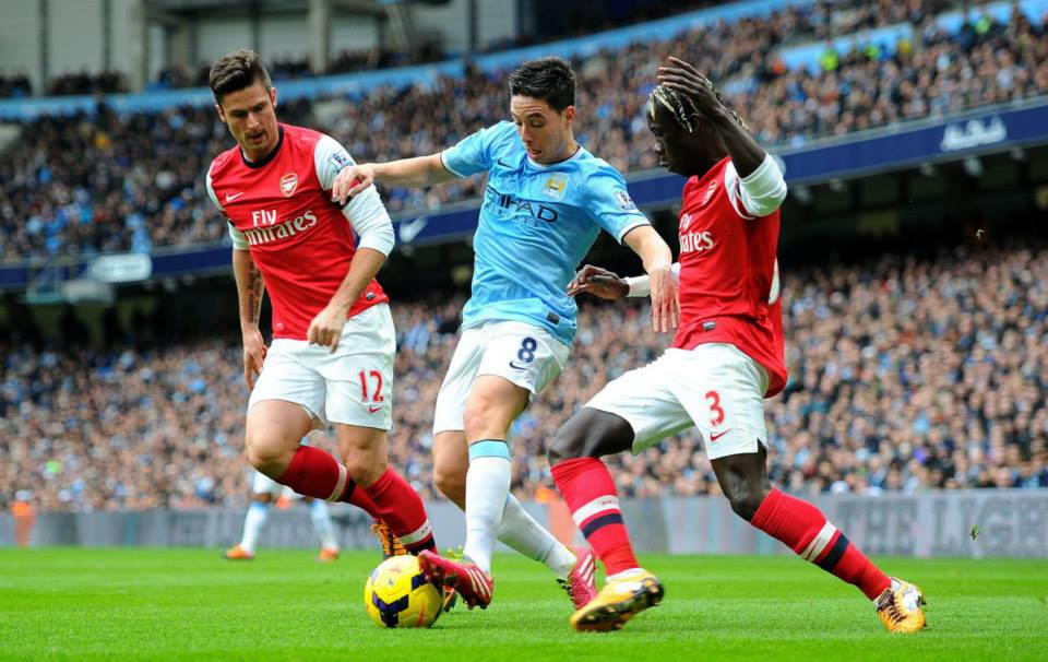 Love to hate - Arsenal fans have never forgiven Nasri for leaving. Courtesy @MCFC