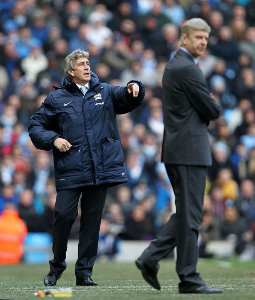 Director of Football - Pellegrini directs City to victory over the ever whinging Wenger last time out. Courtesy @MCFC