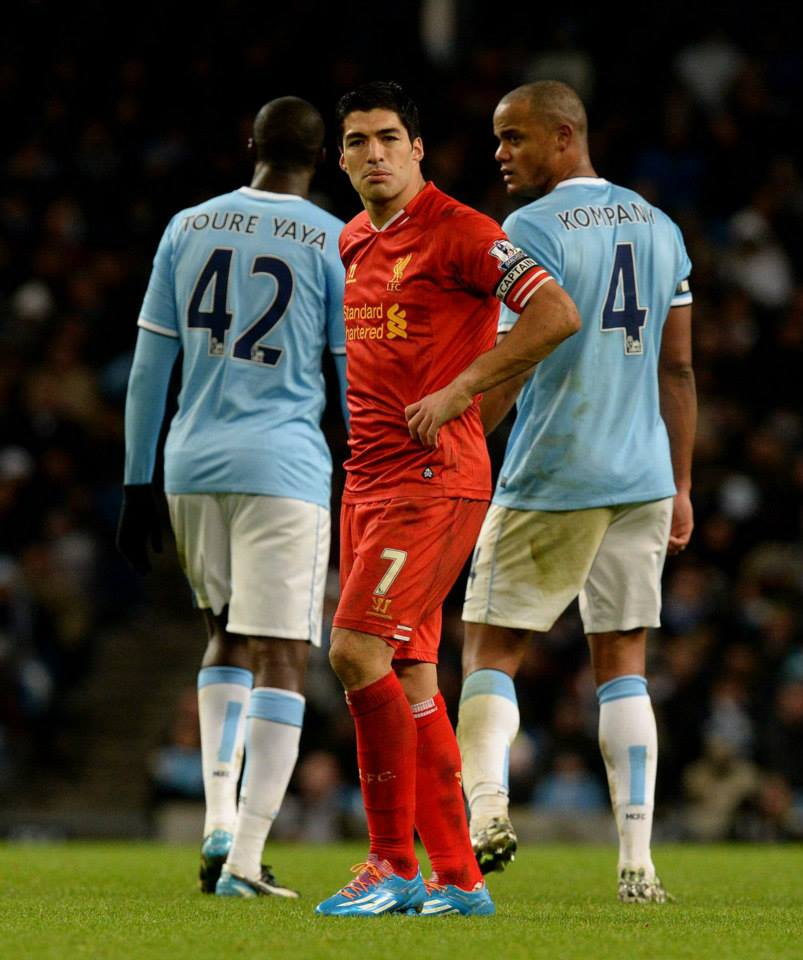 Gummy - Kompany & Co managed to render the Uruguayan hitman toothless Courtsey @MCFC