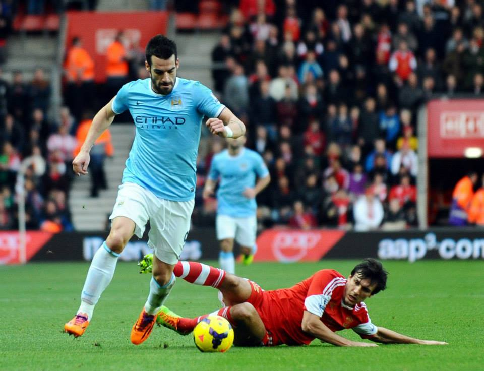 Blunt Beast - Negredo drew a blank with the Southampton defence Courtesy @MCFC