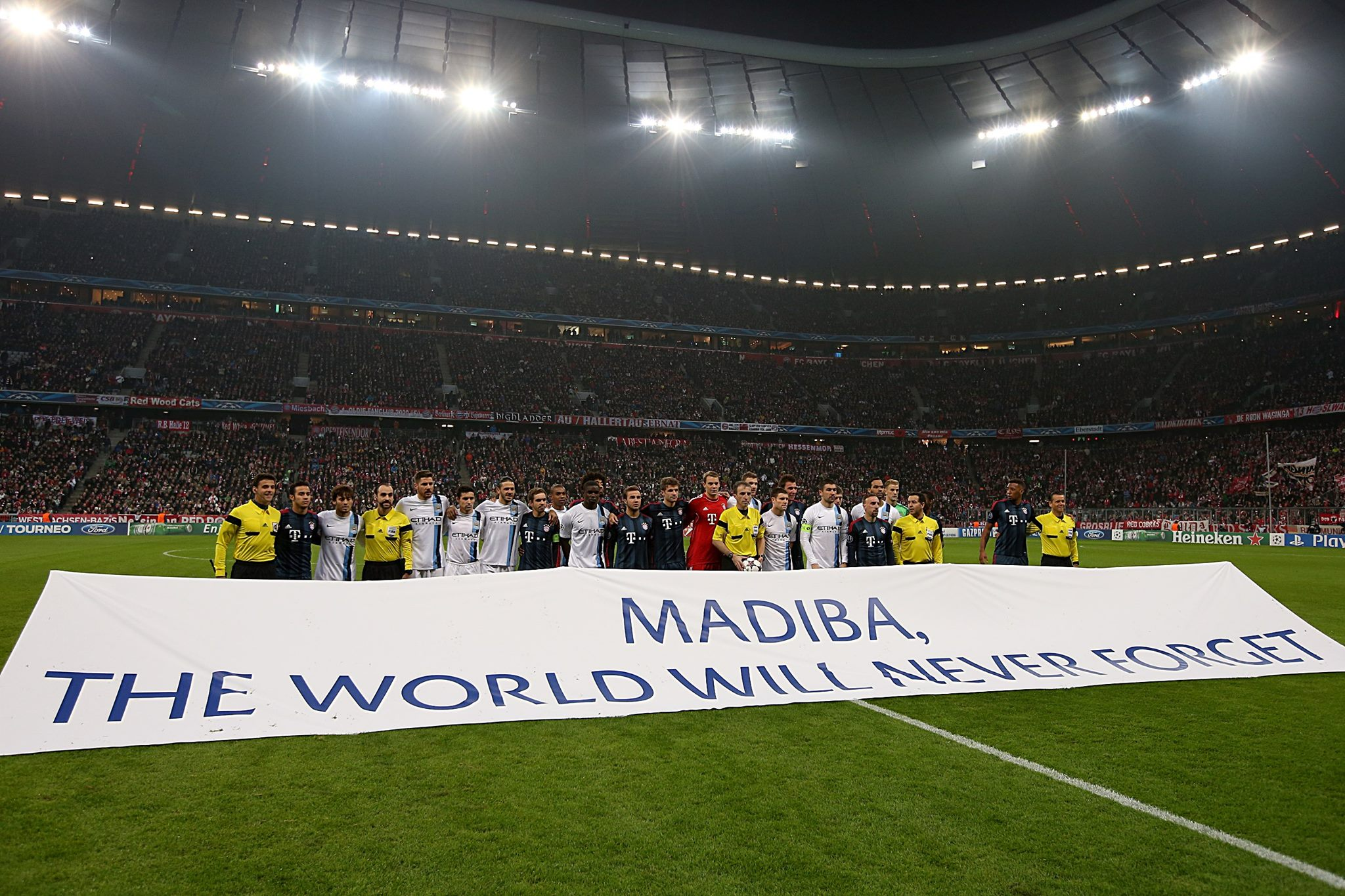 Night to remember - Nelson Mandela never forgotten, just like City's win in Munich Courtesy @MCFC