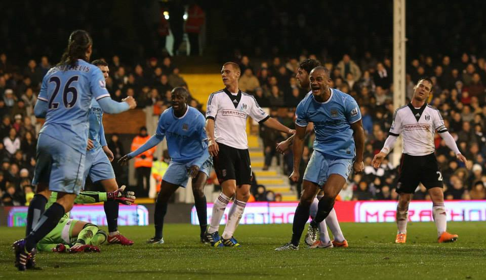 Captain's contribution -  Vinny celebrates his firts half goal  Courtesy @MCFC