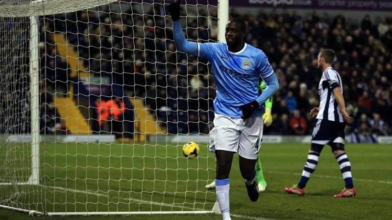 Paying the penalty - Yaya punished the Baggies Courtesy @MCFC