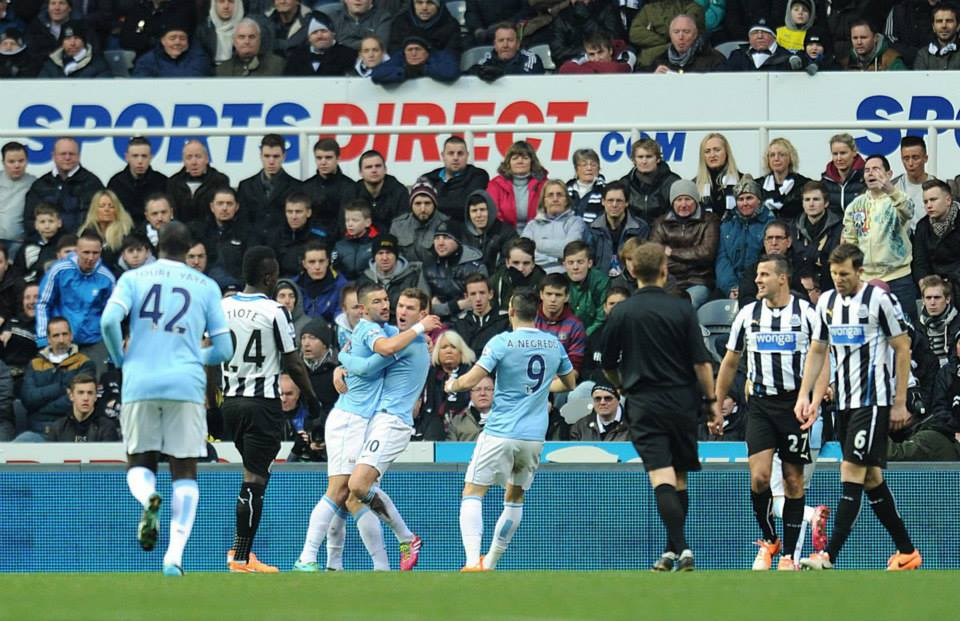 1-0 - Edin Dzeko takes the plaudits after an excellent opening goal  Courtesy @MCFC