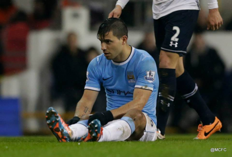 Sitting this one out - Sergio's hamstring has 'gone' again! Courtesy @MCFC