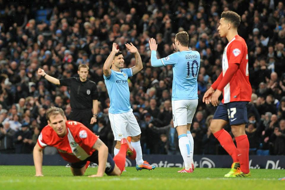 Looks familiar - Sergio goal celebration  Courtesy @MCFC