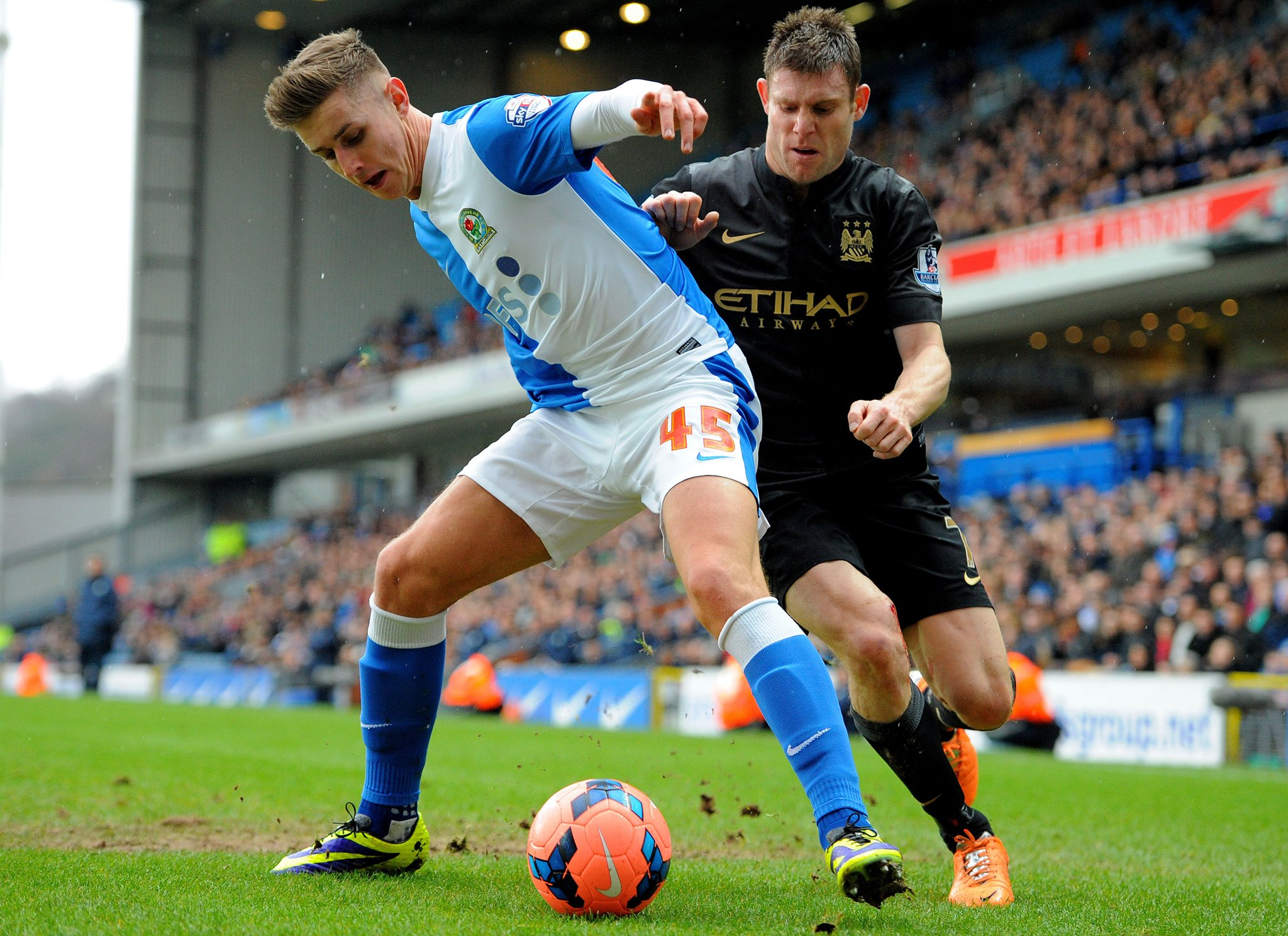 Battling Blackburn - James Milner & City had to fight all the way in the FA Cup 3rd Round tie  Courtesy @MCFC