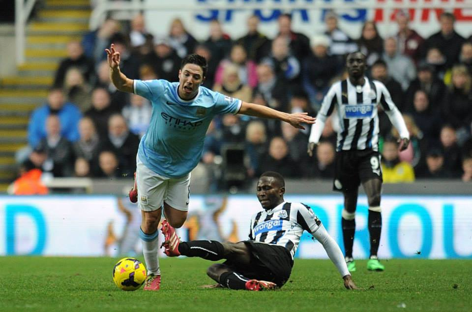 Back with avengence - Nasri, wounded in action against Newcastle last January, will be out to help City retain the Capital One Cup. Courtesy@MCFC