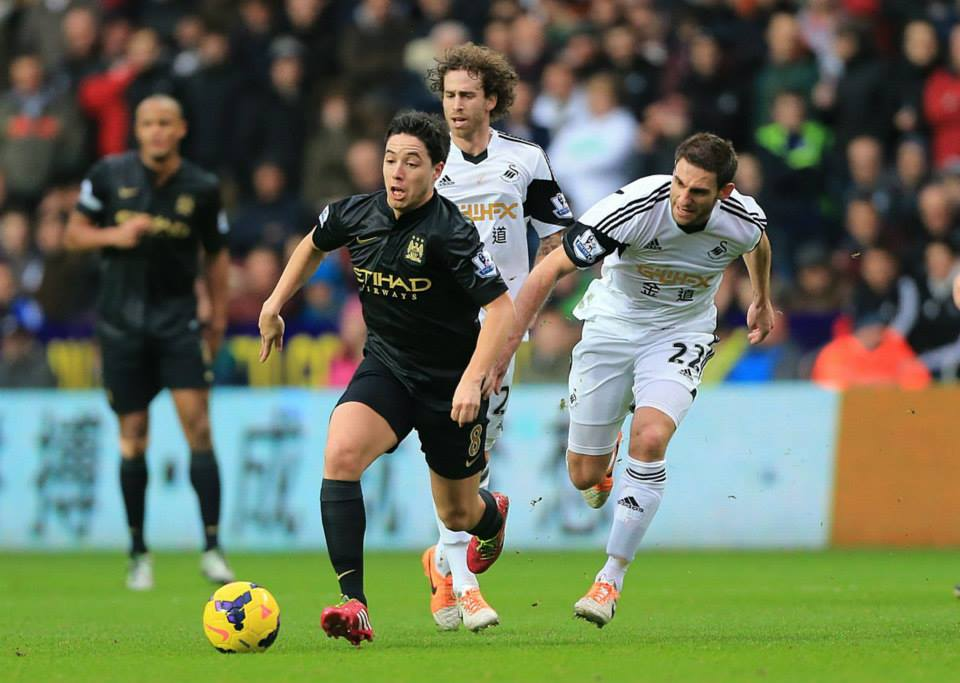 French connection - Samir Nasri helped City to their fourth PL away win of the season  Courtesy @MCFC