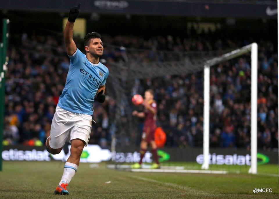 Back from the brink - Sergio's hat-trick helped City come back from 2-0 down against Watford from the Championship in the 4th Round of the FA Cup.   Courtesy @MCFC