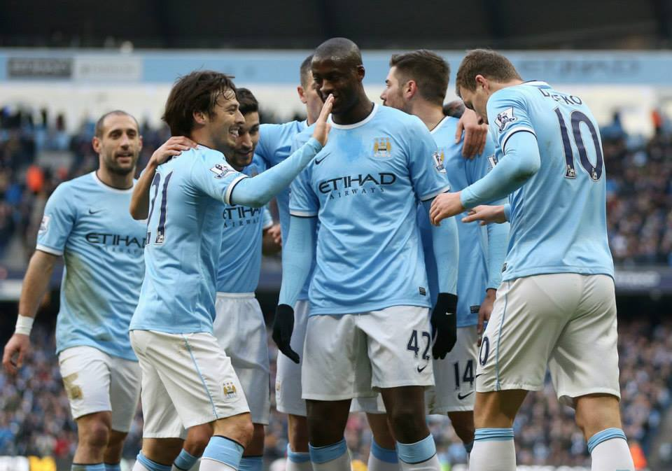 Team spirit - could this be City's finest ever season?  Courtesy @MCFC