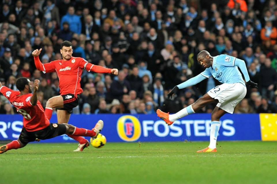 Man of the Match - Yaya scores after his 70 yard lung-burster  Courtesy @MCFC