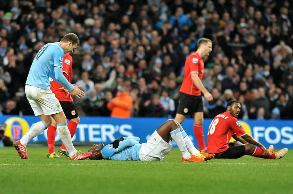 Well earned breather -Yaya scored a beauty for saying he's a 'liability'  Courtesy @MCFC