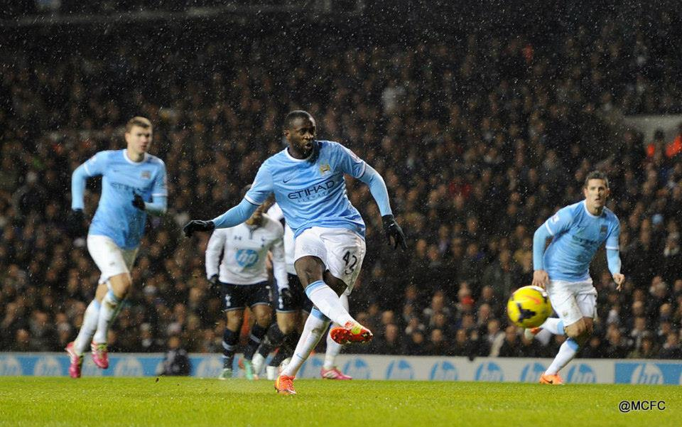 Stand up stand-in - Yaya assumed penalty taking duties with Aguero off injured  Courtesy @MCFC