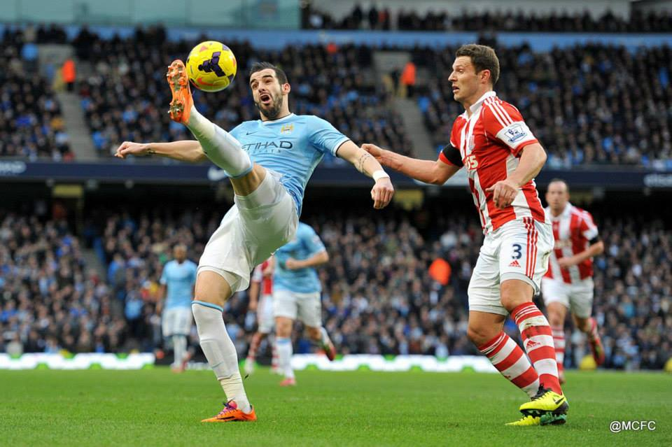 Off day - The Beast was far from his best against a massed Stoke defence  Courtesy @MCFC