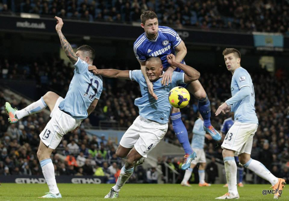 Defensive disarray - City were poor and disjointed at the back  Courtesy @MCFC