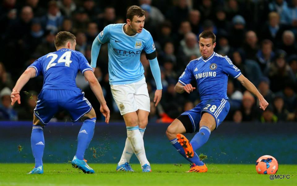 Work rate - Dzeko upped his game as City put one over Jose  Courtesy @MCFC