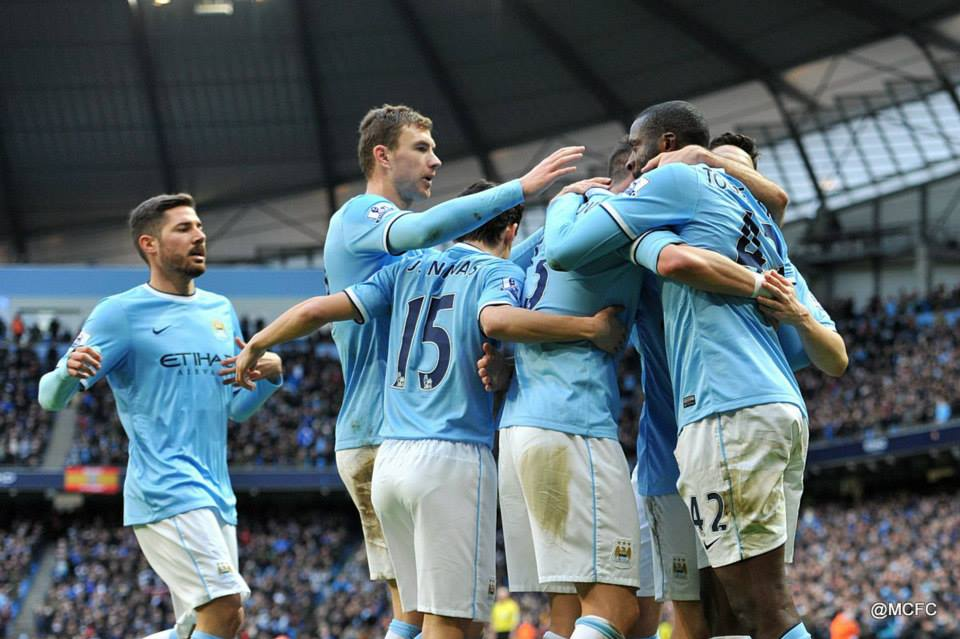 118 - A solitary strike, City's 118th of the season was enough to see off Stoke City  Courtesy @MCFC