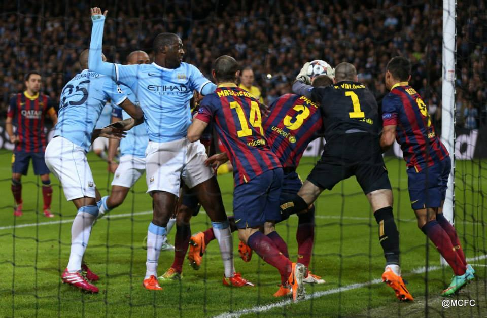 Can Yaya help pull off a stunning City win at the Nou Camp?   Courtesy @MCFC