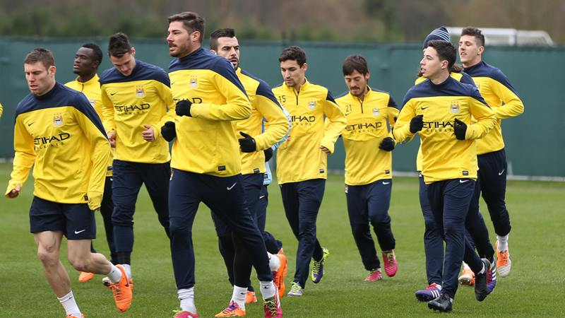 Shaping up - City will gradually see the return of injured stars  Courtesy @MCFC