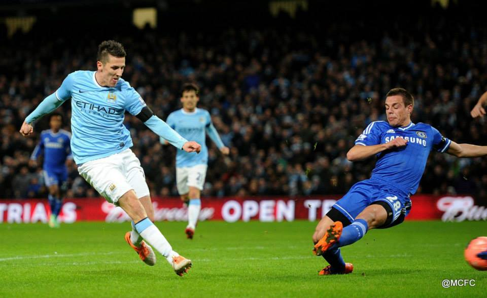 1-0 - Jovetic put Chelsea on the back foot  Courtesy @MCFC